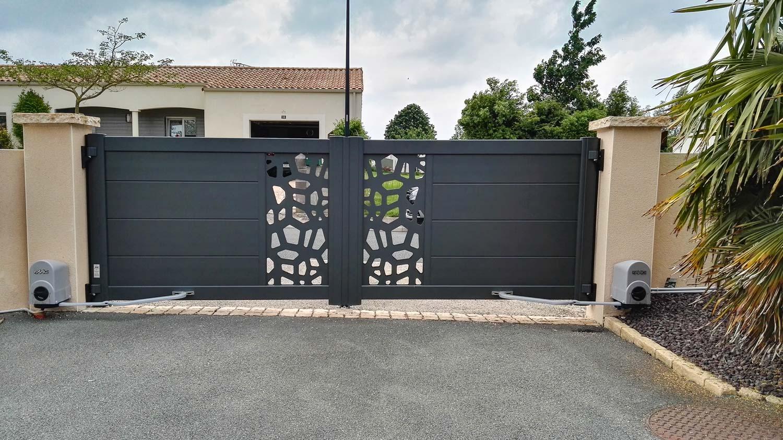 Portail de clôture aluminium motorisé-5